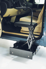 Bruno's new powered transfer seat offers easy access for truck and SUV owners.